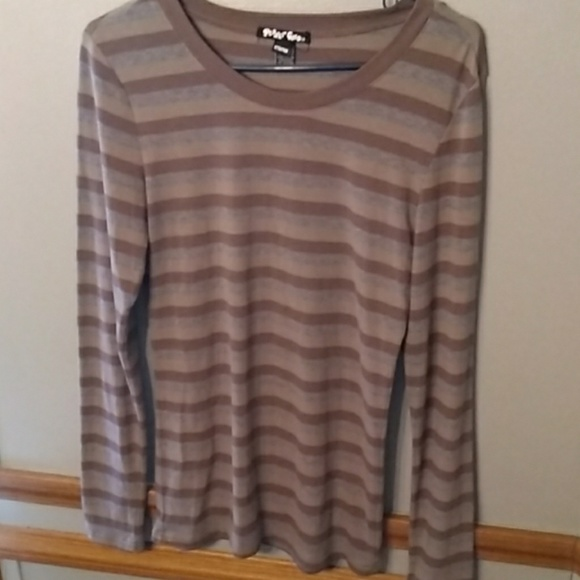 Planet Gold Tops - Planet Gold long sleeve top Large
